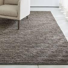 bronte grey textured jute rug 8 x10