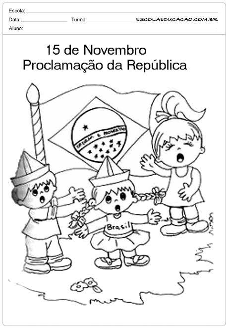 """Resultado de imagem para atividades proclamação da república"""""""