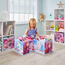 Disney Frozen Ii Fabric Toy Storage Cubes