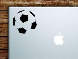 Soccer Ball Laptop Wall Decal Sticker Vinyl Art Quote Macbook Apple De Boop Decals