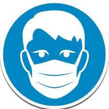 Adhésif rond - Port de masque de protection obligatoire - DOUBLET