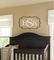 Personalized Wall Decal Nursery Wall Decal Monogram Wall Etsy