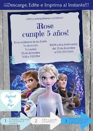 Invitacion Frozen 2 Fiesta Cumpleanos Invitacion Disney Frozen Ii