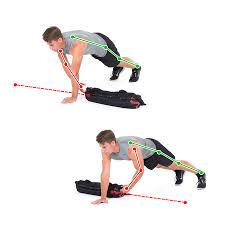 sandbag exercise push up slide