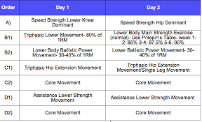 triphasic programme for rugby