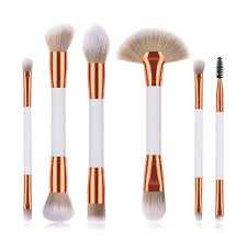 6 piece double sided makeup brushes