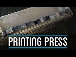 how to use a printing press how to