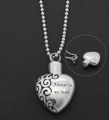 ashes holder urn heart necklace