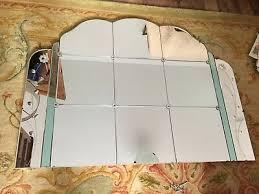 art deco overmantle frameless mirror