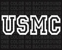 2 Usmc United States Marine Corp Decals Us Military Stickers Etsy