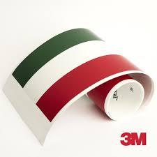 3m Italy Flag Racing Stripe For Lamborghini Maserati Ferrari Car Decal Us Rallystripes
