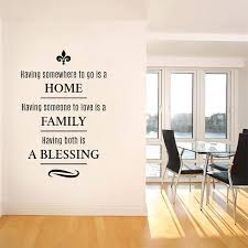Amazon Com Decalmile Family Blessing Wall Decals Quotes Having Somewhere To Go Is A Home Inspirational Words Wall Stickers Bedroom Living Room Dining Room Wall Decor Arts Crafts Sewing