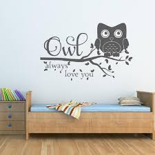 Wall Decal Vinyl Sticker Owl Tree Branch Nursery Quote Always Love You For Kid Boy Girl Child Room Playroom Decoration Ww 227 Stickers Owl Vinyl Stickerstree Branch Aliexpress