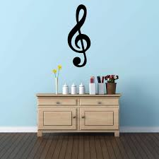 Amazon Com Music Wall Decal Treble Clef Symbol Musician Gifts For Bedroom Playroom Or Studio Room Decoration Handmade