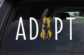 Adopt Aussie Vinyl Car Decal Certified Aussie Decal Adopt An Etsy