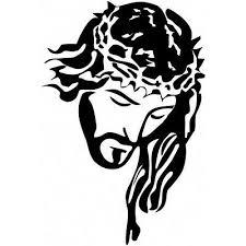 Large Jesus Vinyl Decal Sticker For Car Truck Hood Window Religious 23 X 15 Ebay