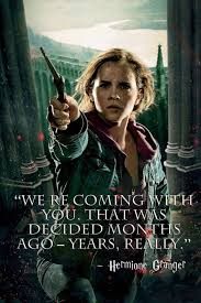 hermione granger harry potter deathly hallows quote paper print