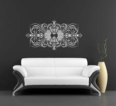 For Ariana Wall Decal Damask Wall Design Vinyl Wall Art Sticker Wall Art