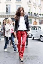 barbara martelo red leather pants