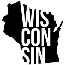 Amazon Com Slap Art Wisconsin Wi State Outline Vinyl Decal Sticker Automotive