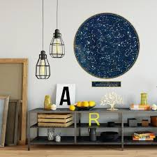 Constellations Wall Decal Northern Hemisphere Poster Decal Sky Decal