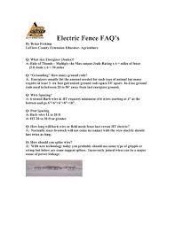 Electric Fence Faq Kerr Center