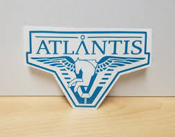 Atlantis Vinyl Sticker Vinyl Decal Stargate Atlantis Etsy