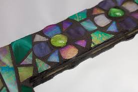 stained glass mosaic mirror frame
