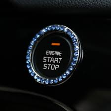 Crystal Car Styling Engine Start Stop Button Ring Ignition Cover Trim For Kia Sportage 4 Ql 2016 2017 2018 2019 2020 Accessories Leather Bag