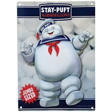 Ghostbusters Stay Puft Marshmallow Man Metal Sign Walmart Com Walmart Com
