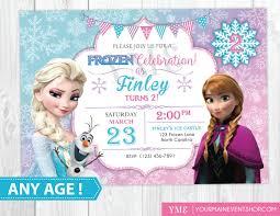 Invitacion De Cumpleanos Congelado Imprimible Invitacion
