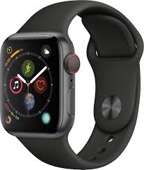 Best Buy: Apple Watch Series 4 (GPS + Cellular) 40mm Space Gray Aluminum  Case with Black Sport Band Space Gray Aluminum MTUG2LL/A