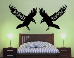 Memory And Thought Ravens Wall Decal By Geekerymade On Deviantart