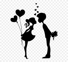 Wall Decal Kiss Sticker Love Couple Black And White Clipart 5217367 Pinclipart