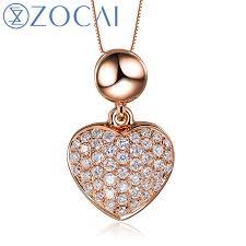 ct certified18k rose gold heart shape