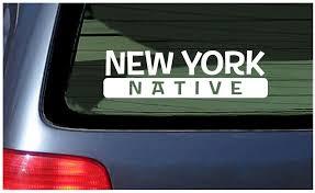 New York Native Sticker Vinyl Decal Car Window Fun Brooklyn Upstate Nyc City Ebay