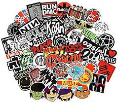 Amazon Com Band Stickers 100pcs Rock And Roll Music Stickers Pack Vinyl Waterproof Stickers For Electronic Organ Band Stickers Music Stickers Vinyl Sticker
