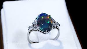 cabochon black opal ring for ac