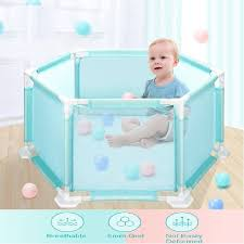 6 Sides Baby Playpen Playinghouse Baby Fence Interactive Kids Toddler Room Safety Play Yard With Sturdy Bases Lightweight For Children Baby Kids Pool With 10 X Ocean Ball Walmart Com Walmart Com