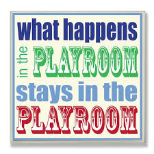 The Kids Room By Stupell What Happens In The Playroom Stays In The Playroom Square Wall Plaque Brickseek