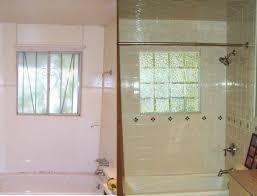 glass block window in shower seattle
