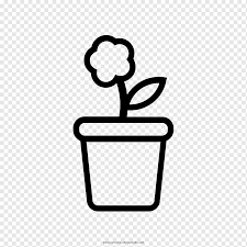 flowerpot drawing coloring book como