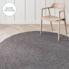 round hand braided woven wool rug