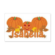 Halloween Pumpkin Isabella 20x12 Wall Decal By Sunnydays Cafepress