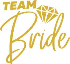 Team Bride With Diamond Sticker