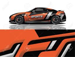Sport Car Decal Wrap Design Vector Sport Car Decal Wrap Design Royalty Free Cliparts Vectors And Stock Illustration Image 139855609
