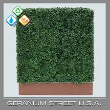 Artificial Boxwood Mini Hedge Geranium Street