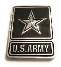 Us Army Logo Emblem Metal Decal Chrome Car Jpg Cliparting Com