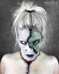 put on bride of frankenstein makeup