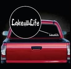 Lake Life Pontoon Boat Window Decal Sticker Custom Sticker Shop